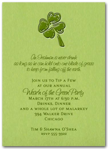 killer st patrick s day party invitations