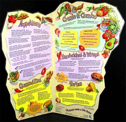 5 cool menu designs