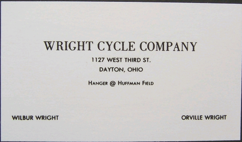 5 business cards that changed the world wilbur and orville wright business card the reheart Gallery