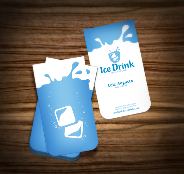 10 fresh business card designs ice drink another great example of design meets die cut as this business card forms the shape of a glass and the interior design depicts ice cubs splashing reheart Images