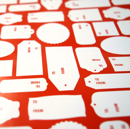 Design Army Streamlines The Gift Giving Process With This Tag Themed Wrapping Paper Write To And From Information Right On