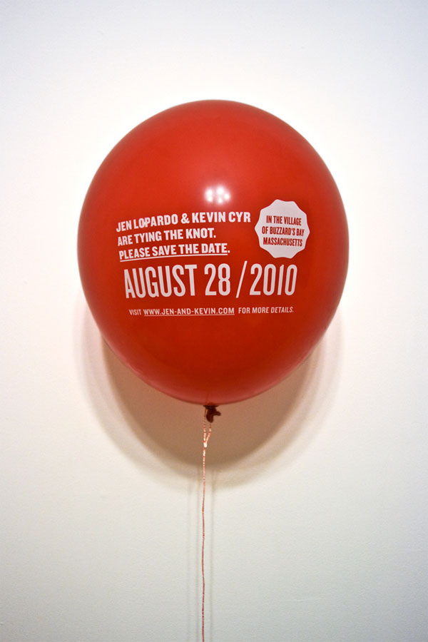 this is such a creative idea the balloon is tied to the save the date
