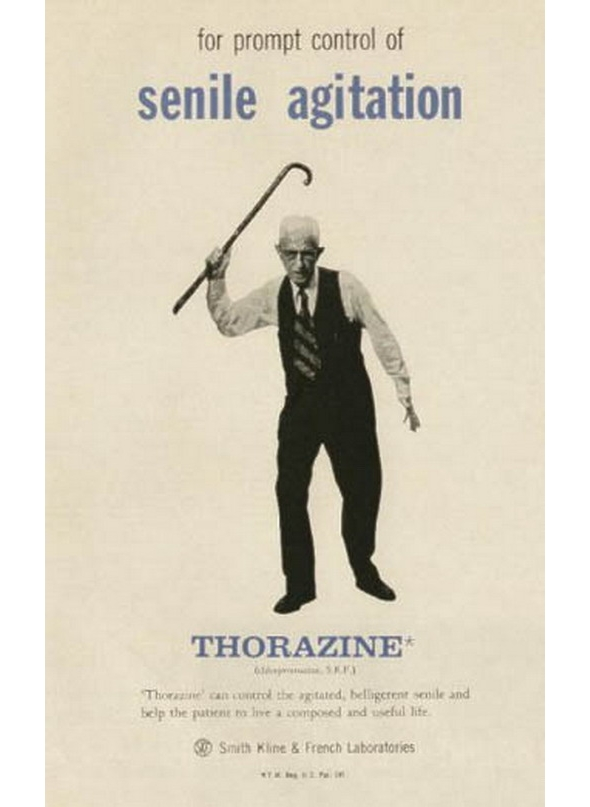 Image of: Memes Thorazine Do Really Have To Say Anything About This Deliciously Creepy And Totally Nonpc Poster Girls Just Wanna Have Fun Sunny Skyz Funny Ads Featuring The Elderly