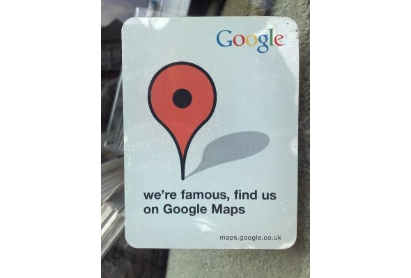 Simple Stickers With Powerful Branding - Find us on google maps stickers