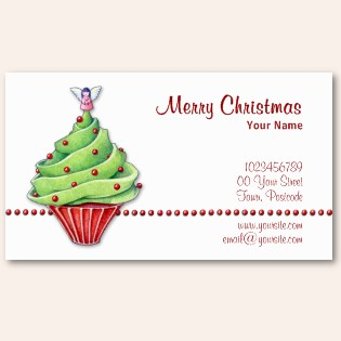 Five awesome christmas themed business cards christmas trees business card reheart Choice Image