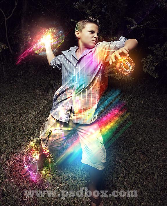 40 Intense Photoshop Light Effect Tutorials