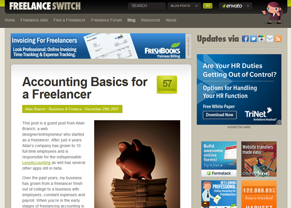 how to start freelance accounting