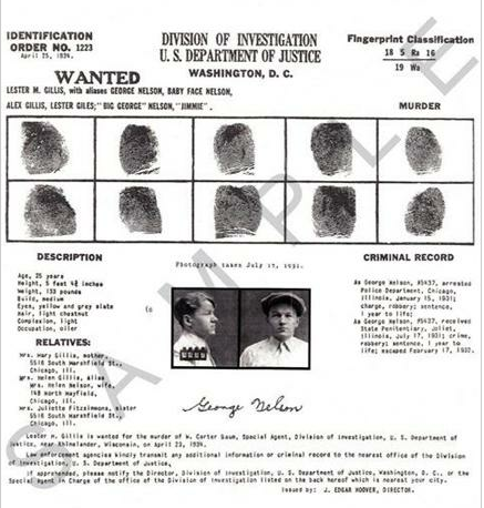 Baby Face Nelson 1934 FBI Wanted Poster   AmericanWestCollectibles   Google  Chr_2012 08 07_09  Criminal Wanted Poster