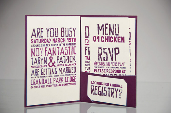 7 greeting cards featuring fantastic typography wedding invitation set on the behance network google chrome2012 08 0615 01 stopboris Images