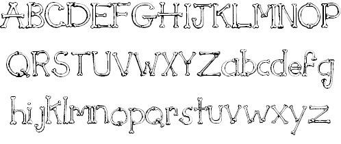 xchjl4vt - Halloween Writing Font
