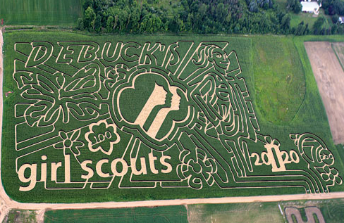Giant Corn Maze and Night Maze at DeBuck's Corn Maze & Pumpkin Patch in Bellevil_2012-10-25_09-31-51