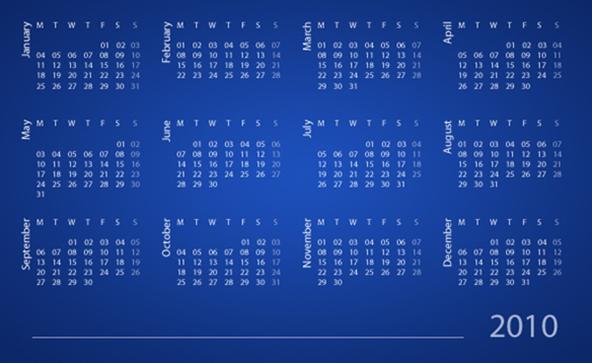 Calendar Design Using Photo : Cool calendar design tutorials