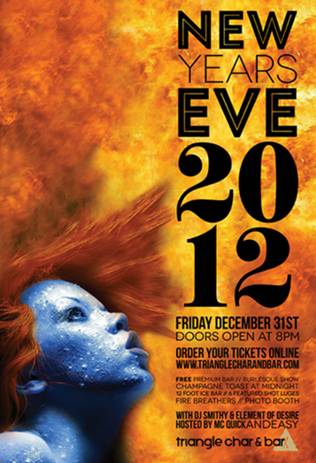 fire ice new years eve poster design on behance google chrome_2012 12 - Poster Design Ideas