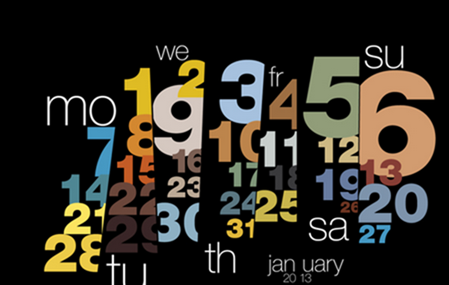 Typography calendar 2013 on Behance - Google Chrome_2012-12-05_13-10-35