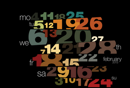 Typography calendar 2013 on Behance - Google Chrome_2012-12-05_13-10-41