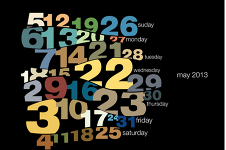 Typography calendar 2013 on Behance - Google Chrome_2012-12-05_13-10-51