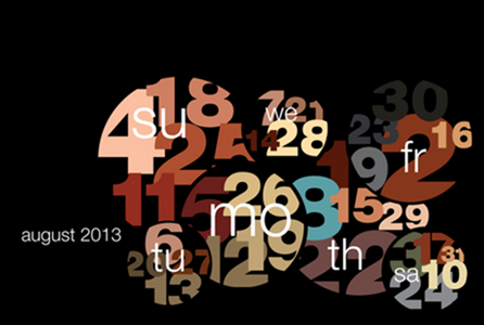 Typography calendar 2013 on Behance - Google Chrome_2012-12-05_13-11-04