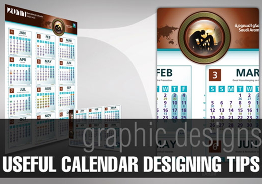 Calendar Typography Tips : Cool calendar design tutorials