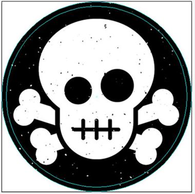 Create a skull crossbones sticker design in illustrator google chrome 2013 01 29 09