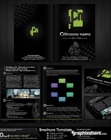 10 free brochure design templates for Black brochure template