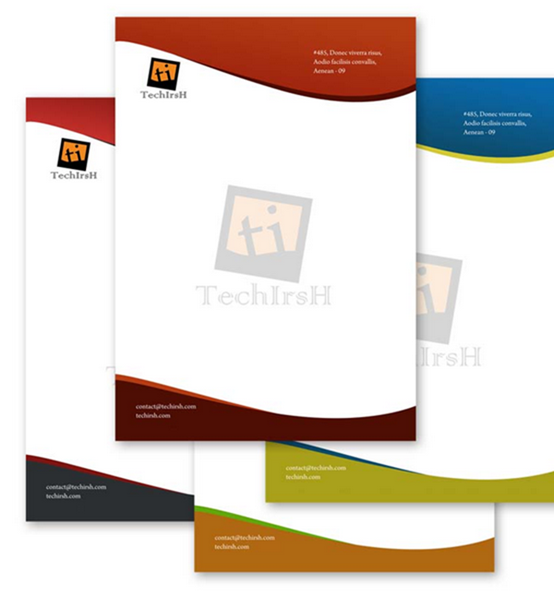 Professional Letterhead Download Free PSD File Tech Irsh