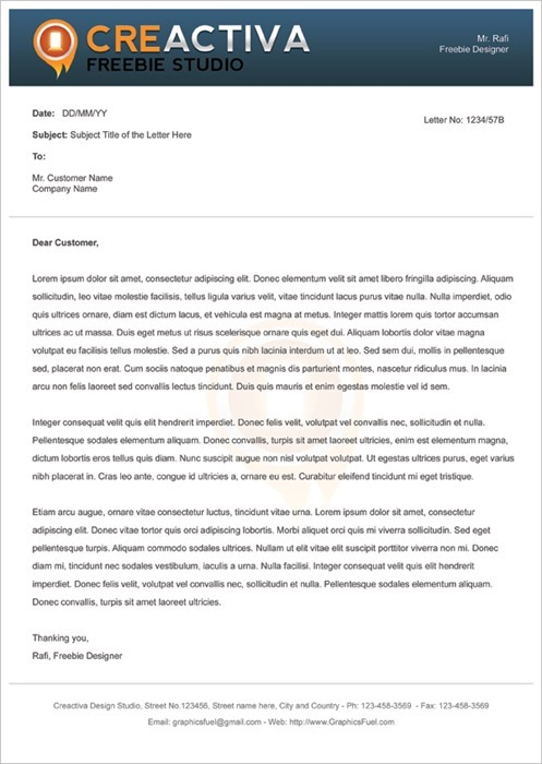 10 Free Premium Letterhead Templates – Business Letter Heading Template