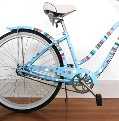 Polka Dots & Stripes - Bike Bicycle Beach Cruiser Decals Stickers Graphics - Goo_2013-05-14_08-03-02