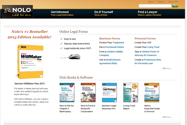 Lawyers, Legal Forms, Law Books & Software, Free Legal Information - Nolo.com - _2013-06-06_07-50-24