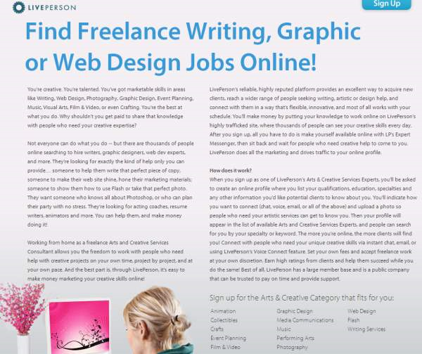 Freelance Creative Services Work Online   Arts And Creative Services  Careers @ L_2013 09