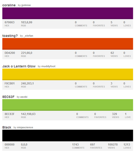 30 Unique Halloween Color Palettes