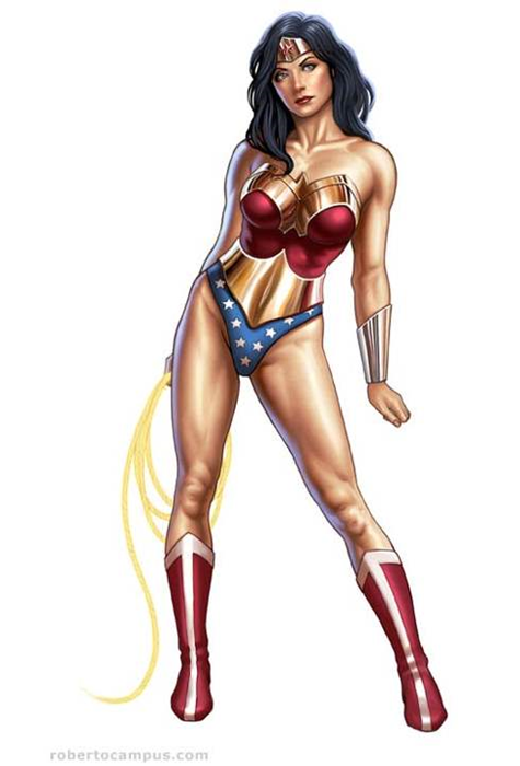 Photoshop Tutorial Wonder Woman Pin Up Digital Painting » The Art of Roberto Ca_2013-11-14_14-32-47