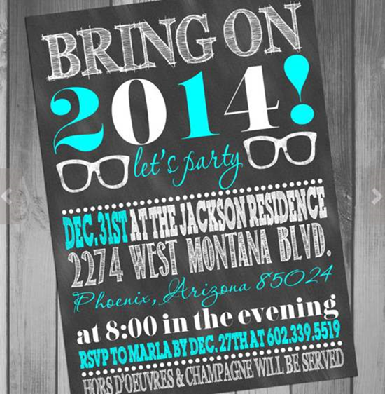 10 Creative New Years Eve Invitation Card Designs – Creative Party Invitation
