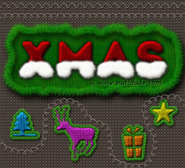 Santa Hat Knitted Christmas Text Effect in Photoshop - Photoshop tutorial PSDD_2013-12-09_11-43-37-Optimized