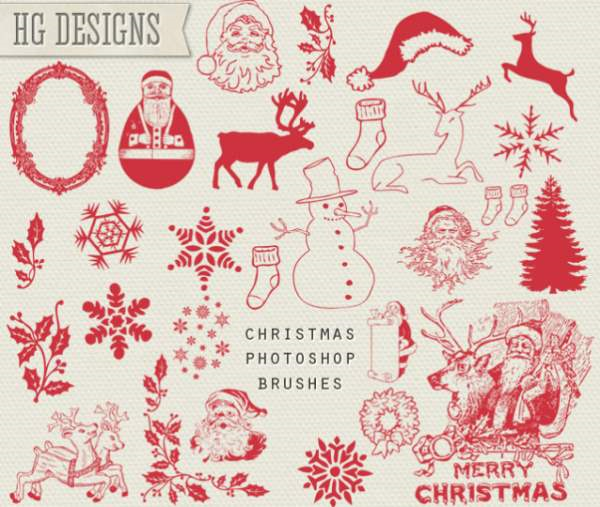 10 Christmas Photoshop Freebies