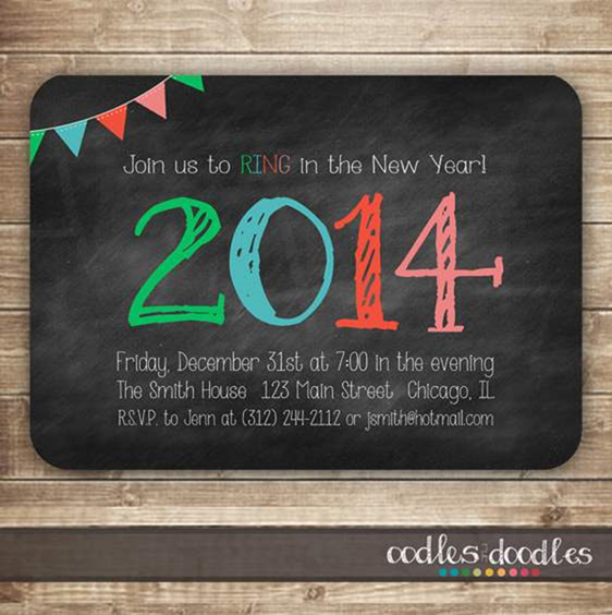 2 new years eve party invitation card