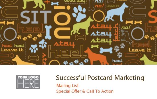 For successful postcard marketing, you need a mailing list, a special offer and a call to action. If you are looking for something quick and simple, try one of PsPrint's easy-to-personalize postcard design templates, like the one above, in our gallery.