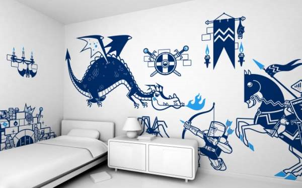 Ideal Knights versus Dragons sticker kit by e Glue
