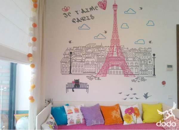 New Paris wall sticker by Dodo