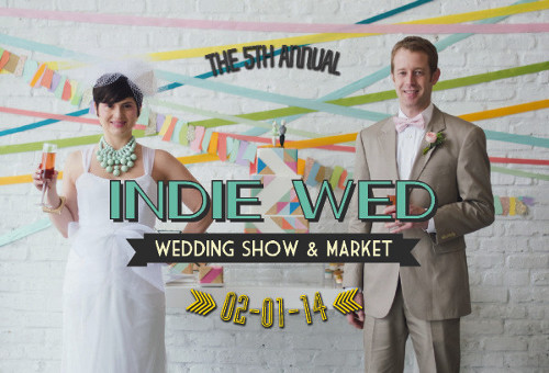 Front of postcard for Indie Wed.