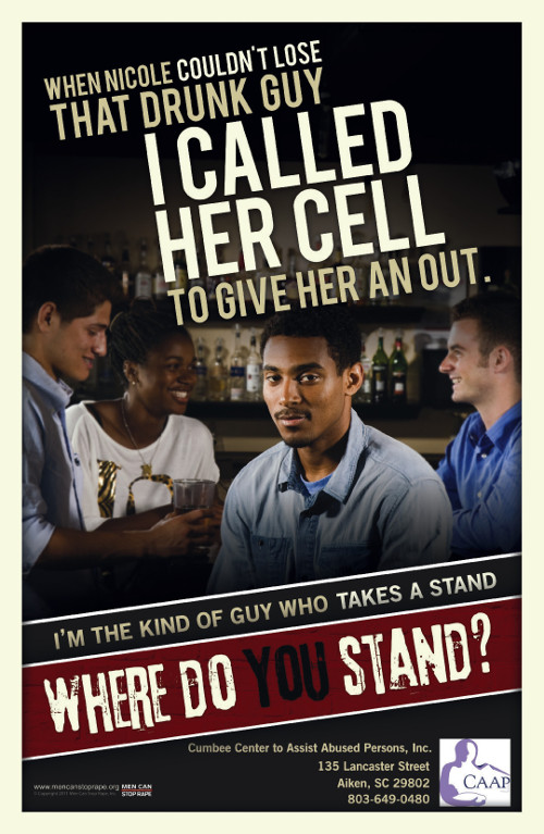 Poster for Men Can Stop Rape.
