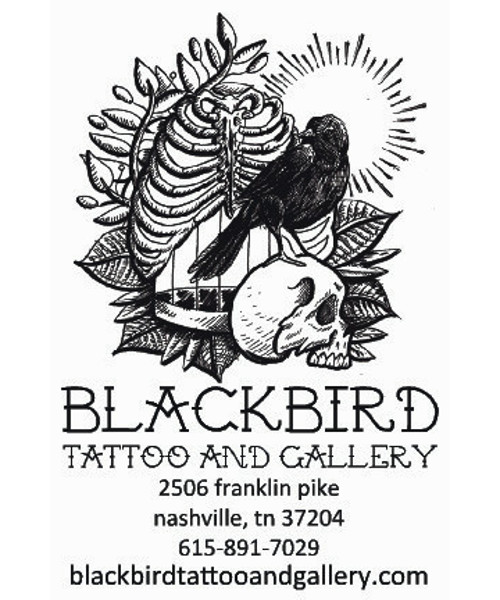 Sticker for Blackbird Tattoo and Gallery.