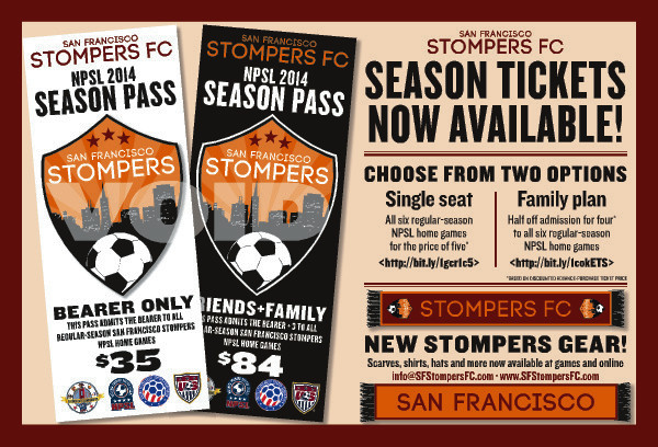 San Francisco Stompers flyer.