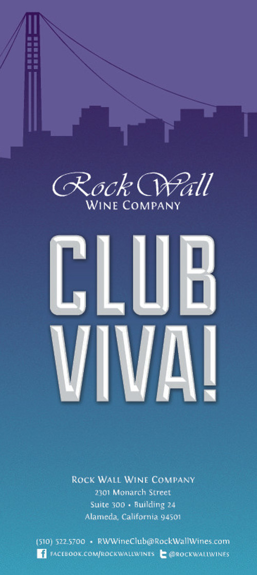 Brochure cover for wine club.