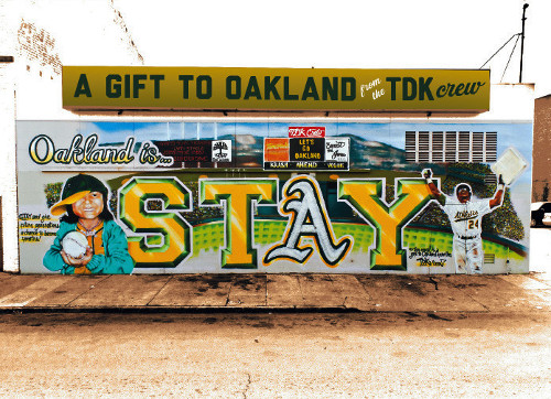 Postcard art by TDK Collective for Oaklandish.