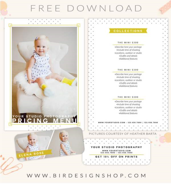 FREE pricing menu template Photoshop templates for photographers by Birdesign _2014-06-02_07-09-28