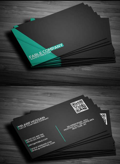 New Photoshop Freebies For September - Graphic design business card templates
