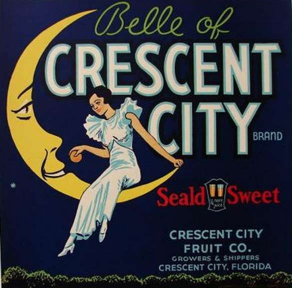 Vintage Belle of Crescent City brand Florida crate label from TheLabelMan.com - _2014-07-29_05-56-50