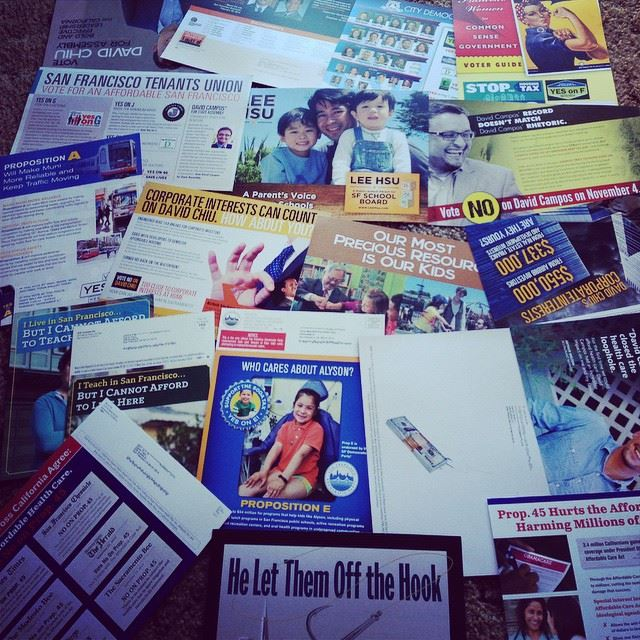 This is just a single day's worth of election mailers in my mailbox. (Photo by Sonia Mansfield)