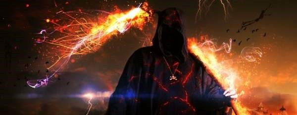 How to Create an Awesome Fiery Grim Reaper by Combining Images Photoshop Tutor-000186