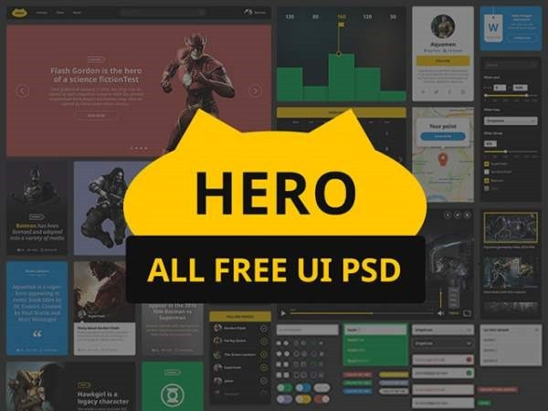 hero-free-ui-kit-psd